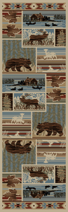 "Dean Maple River Lodge Cabin Western Ranch Runner Rug 2'3"" x 7'7"""