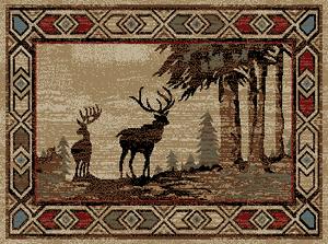 "Dean Deer River Lodge Cabin Area Rug 7'10"" x 9'10"" (8x10)"