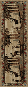 "Dean Deer River Lodge Cabin Western Ranch Runner Rug 2'3"" x 7'7"""