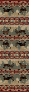 "Dean Elk Springs Lodge Cabin Western Ranch Runner Rug 2'3"" x 7'7"""