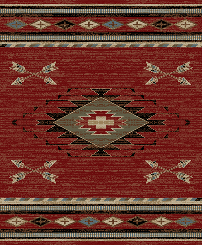 Dean Arrowhead Red Lodge Cabin Southwestern Area Rug 7 10