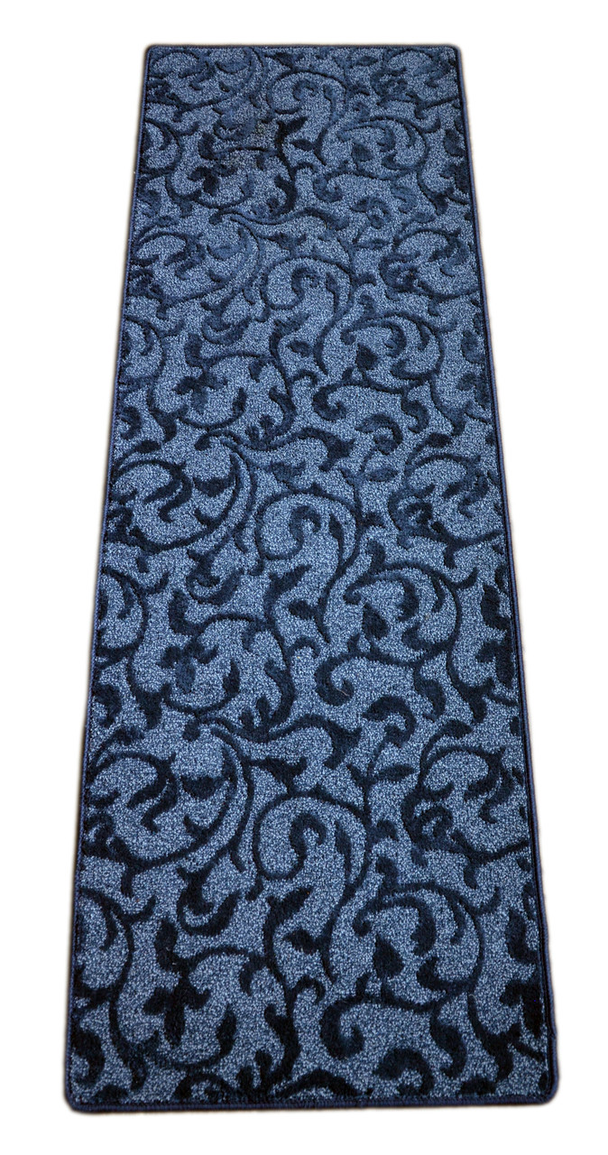 Lucid Ivy Blue Non Slip Runner Rug 2 Foot By 6 Foot