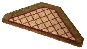 Dean Premium Pet Friendly Tape and Adhesive Free Non-Slip Bullnose Premium Nylon Carpet Stair Treads - Beige Checkerboard (3)