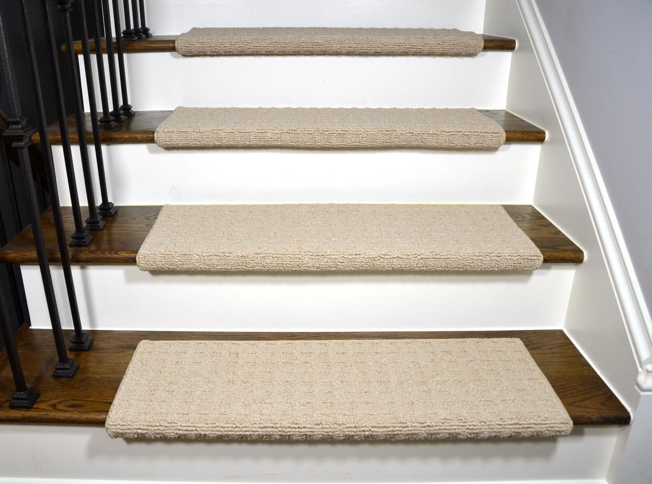Dean Quadrille Aged Linen Tape Free Bullnose Carpet Stair