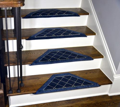 Blue Bullnose Carpet Stair Treads