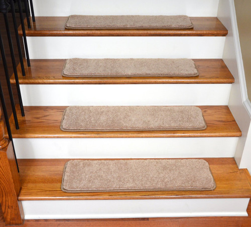 Angelic Tan Pet Friendly Carpet Stair Treads