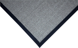 Dean All Natural Fiber Island Gray/Black Sisal Non-Skid Area Rug: 6' x 9'