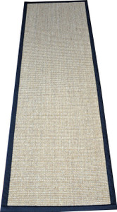 "Dean Desert/Black Natural Sisal Hall/Entrance/Landing Slip Resistant Carpet Runner Rug 29""x6'"
