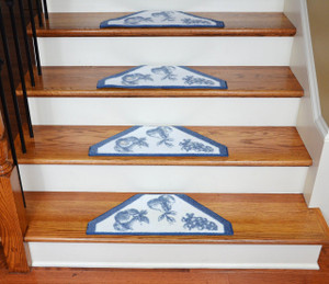 Washable Non-Skid Carpet Stair Treads - Blue Fruit (13)