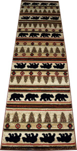 "Dean Appalachian Bear Lodge Cabin Bear Carpet Runner Rug Size: 2'3"" x 7'7"""