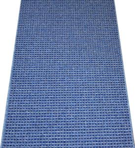 Washable Non-Skid Carpet Rug Runner - Michelle Blue (5')