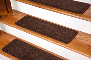"Dean Serged DIY 27"" x 9"" Imperial Carpet Stair Treads - Color: Walnut (13)"