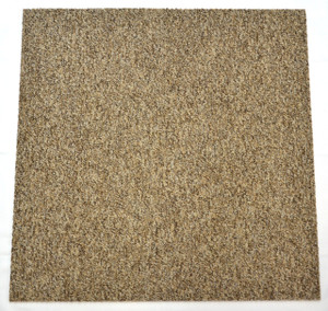 DIY Carpet Tile Squares - Beige & Brown Tweed