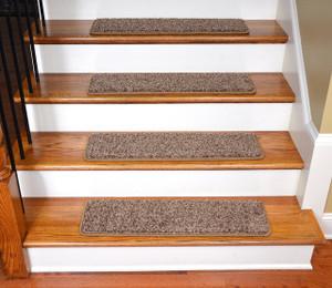 """Dean Premium Stair Gripper Tape Free Non-Slip Pet Friendly DIY Carpet Stair Treads 30""""x9"""" (15) - Safari Brown"""
