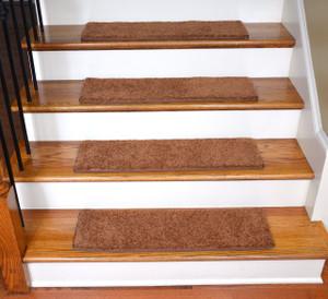 "Dean Ultra Premium Stair Gripper Non-Slip Tape Free Pet Friendly DIY Carpet Stair Treads/Rugs 30"" x 9"" (15) - Color: Pumpkin Spice"