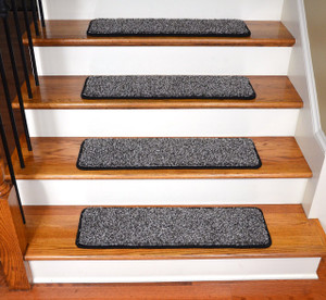 "Dean Premium Stair Gripper Tape Free Non-Slip Pet Friendly DIY Carpet Stair Treads 30""x9"" (15) - Safari Platinum"