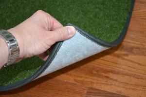 Dean Premium Heavy Duty Indoor/Outdoor Oasis Green Artificial Grass Performance Turf Carpet Runner Rug/Putting Green/Golf/Sports/Dog Mat, Size: 3' x 12' with Bound Edges