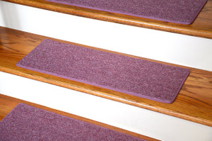 "Dean Carpet Stair Treads 23"" x 8"" - Rose - Set of 13"