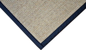 Dean All Natural Fiber Desert/Black Sisal Non-Skid Area Rug: 4' x 6'