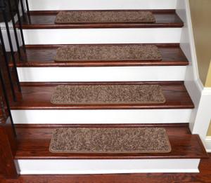 """Dean Premium Stair Gripper Tape Free Non-Slip Pet Friendly DIY Carpet Stair Treads 30""""x9"""" (15) - Rivers Edge"""
