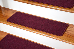 "Dean Serged DIY Carpet Stair Treads 27"" x 9"" - Mulberry - Set of 13"