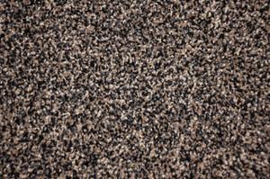 Black and Beige Tweed Plush 5' x 7' Serged Carpet Area Rug