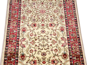 Dean Classic Keshan Antique Beige Custom Length Carpet Rug Runner - Purchase by the Linear Foot