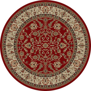 "Dean Classic Keshan Claret Red Oriental Area Rug 7'10"" Round (8')"
