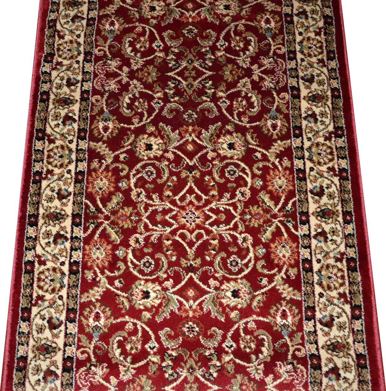 Dean Classic Keshan Claret Red Custom Length Carpet Rug