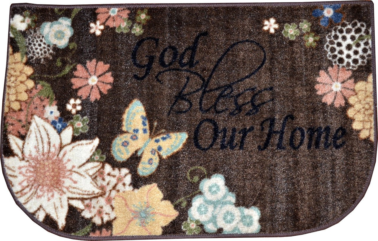 Dean 20 Quot X 32 Quot Quot God Bless Our Home Quot Brown Amp Black Rug
