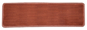 "Dean Premium Non-Skid Carpet Stair Treads - Velvet Red Rug Runners 30"" x 9"" (Set of 15)"