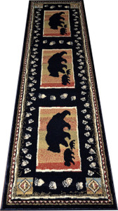 "Dean Black Bear Lodge Cabin Bear Carpet Runner Rug Size: 2'3"" x 7'7"""
