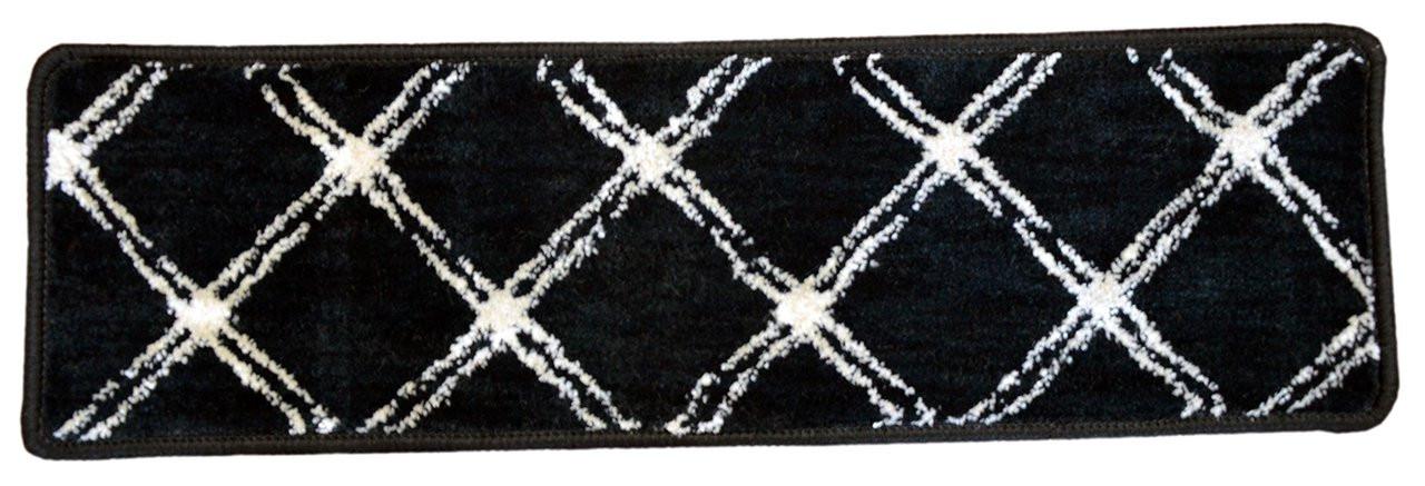 Dean Radiance Brushed Lattice Onyx Non Skid Nylon Carpet