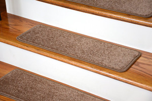 "Dean Serged DIY 27"" x 9"" Imperial Carpet Stair Treads - Color: Cafe (13)"