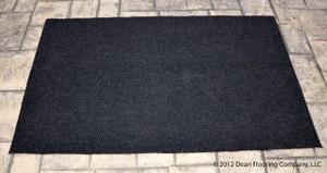 Dean Indoor/Outdoor Walk-Off Entrance Carpet Door Mat/Rug - Black - 4' x 6'