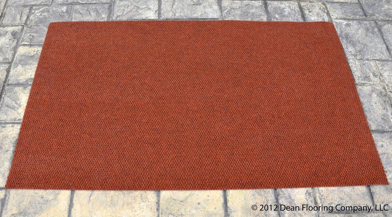 Dean 6 X 8 Terra Cotta Indoor Outdoor Carpet Door Mat