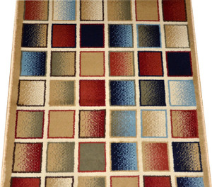 Checkerboard Carpet Rug Hallway Runner 5'