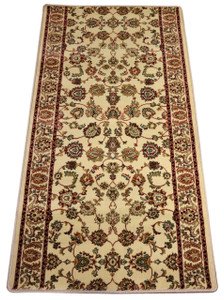 Dean Elegant Keshan Antique Carpet Rug Runner - Purchase by the Linear Foot