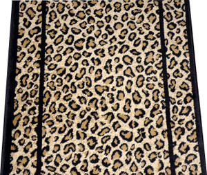 Dean Cheetah Carpet Rug Hallway Stair Runner - Custom Lengths - Purchase by the Linear Foot