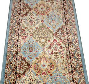 "Dean Panel Kerman Cloude 31""W Carpet Rug Hallway Runner - Custom Lengths - Purchase by the Linear Foot"