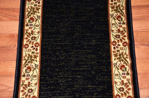 Talas Floral Black Premium Carpet Rug Runner 31 Quot W