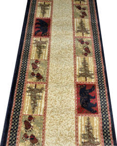 "Dean Cade's Cove Bear Lodge Cabin Carpet Runner Rug 2'3"" x 7'7"""