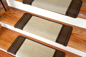 Dean Modern DIY Bullnose Wraparound Peel and Stick Non-Skid Carpet Stair Treads - Boxer Beige (13)