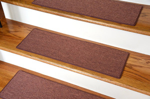 "Dean DIY Carpet Stair Treads 23"" x 8"" - Copper - Set of 13 Plus Double-Sided Tape"
