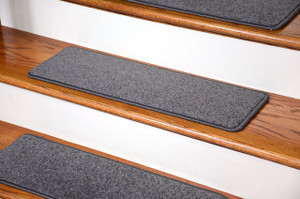 "Dean Carpet Stair Treads 27"" x 9"" Gray Plush (Set of 13)"