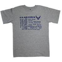 MADE IN USA Graffiti  T-Shirt - Air Force