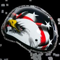 Motorcycle Half Helmet - American Eagle Flag
