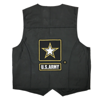 Vest - Leather - Army