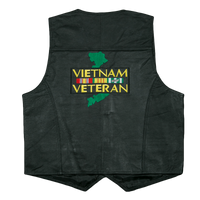 Vest - Leather - Vietnam Veteran