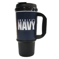 MADE IN USA Travel Mugs - Navy